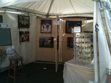 My display at July Fest 2011 - love that they furnish the tents and tables!