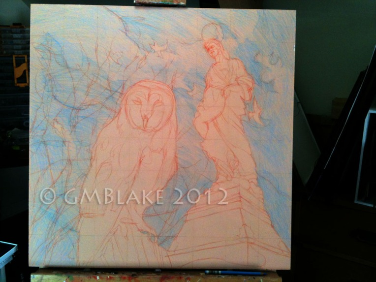 Owl and Stone Goddess- stage 3