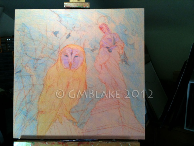 Owl and Stone Goddess - stage 4