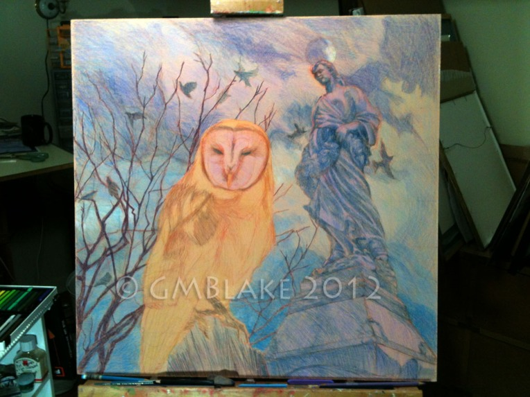 Owl and Stone Goddess- stage 10