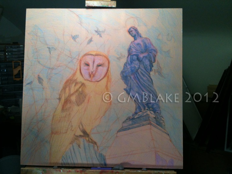 Owl and Stone Goddess - stage 6