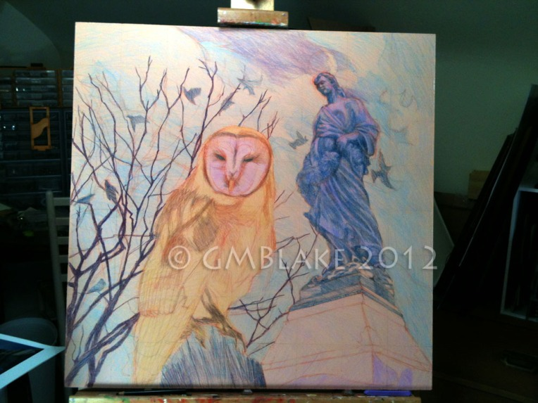 Owl and Stone Goddess- stage 7