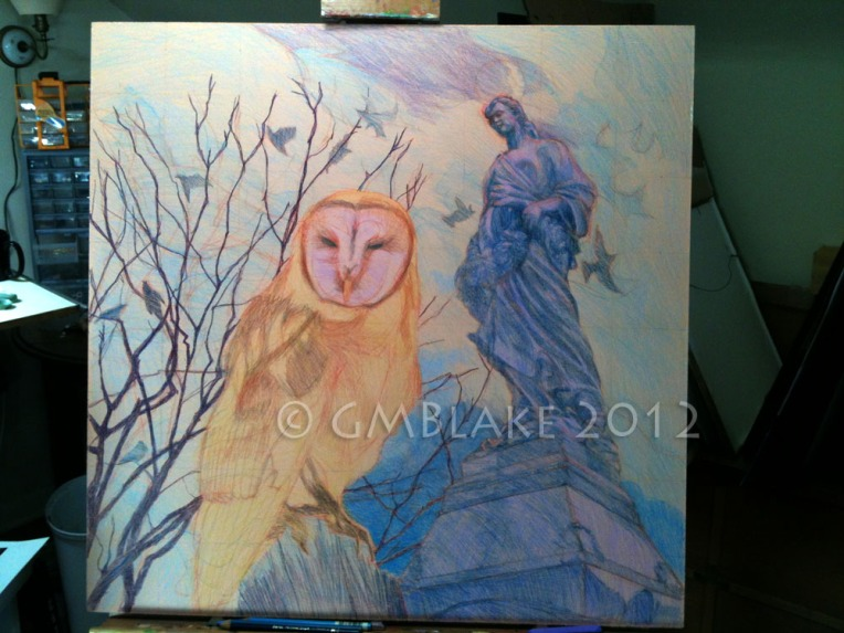 Owl and Stone Goddess- stage 8