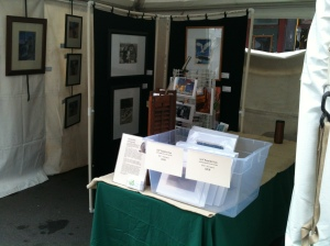 My art and prints at Binghamton July Fest