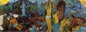 'Where Do We Come From', 54.75 x 147.5 in., by Paul Gauguin -- 1897