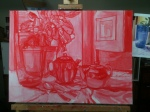Blue and Green (working title) - underpainting 3