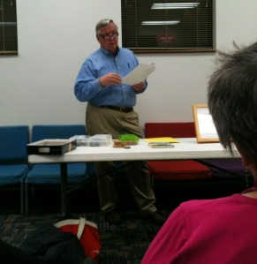 Jim Mullen, printmaker, at the Fine Arts Society of the Southern Tier