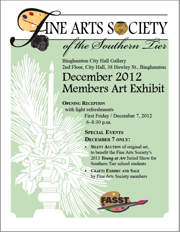 Fine Arts Society of the Southern Tier December Members' Art Exhibit and Sale
