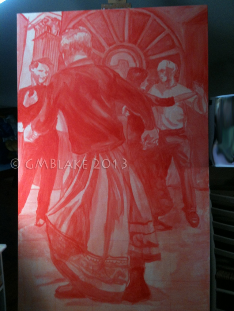"""Dark Angel"" cad-red underpainting"