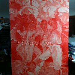 GoldenClouds04 - Final version of the underpainting