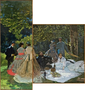 Claude Monet - Luncheon on the Grass (left and central panels)