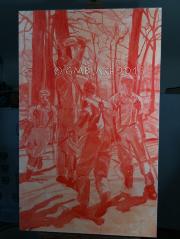 Beethoven Oaks (finished underpainting)