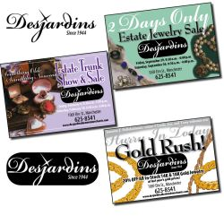 Dejardins Jewelers, ID and ad campaign