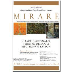 Chapel Art Gallery exhibit poster
