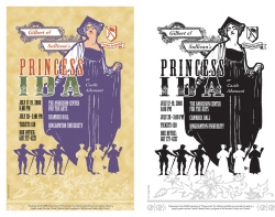 Summer Savoyards performance poster, 2 print variations