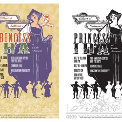 Summer Savoyards performance poster, 2 print variations