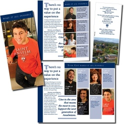 Saint Anselm College, donor recruitment flyer