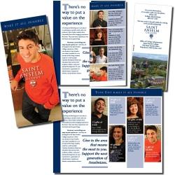 Saint Anselm College, donor recruitment flyer