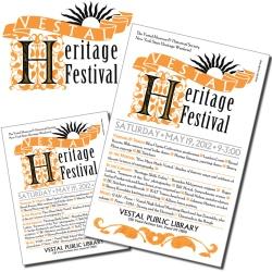 Vestal Heritage Festival, logo, flyer, poster