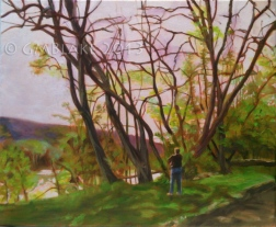 River Willows - 20 x 16 in., oils on canvas
