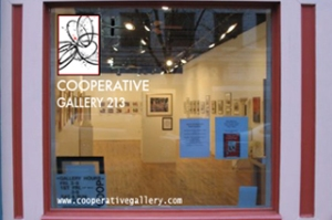 Cooperative Gallery 213, 213 State St., Binghamton NY