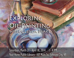 Your Home Public Library, oil painting course promo