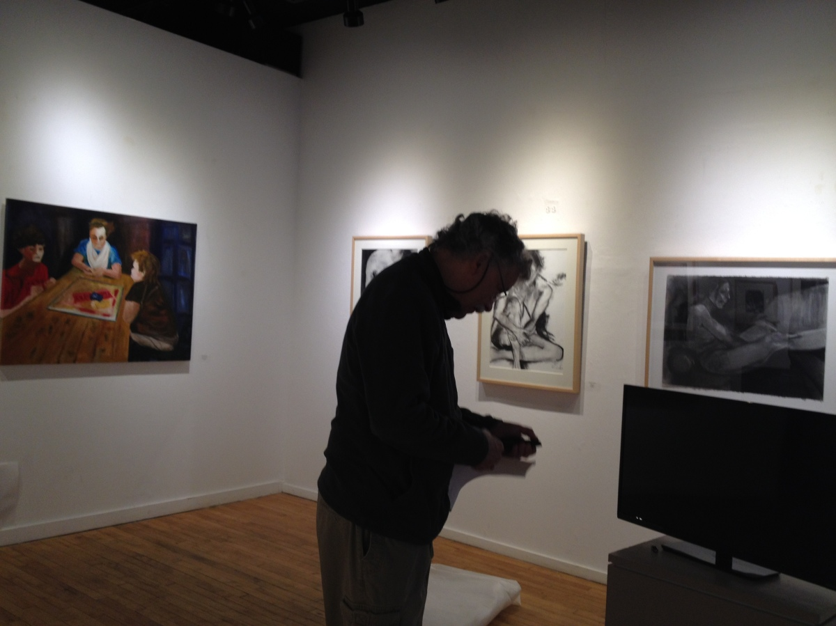 Planning our show at Cooperative Gallery 213