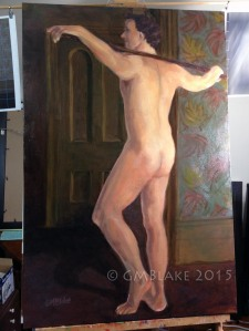In His Limbs and Joints - 24 x 36 in., oil on canvas