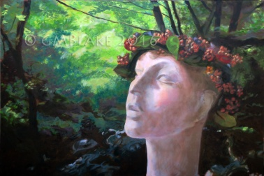 Woods Watcher, 24 x 36 in., oil on canvas